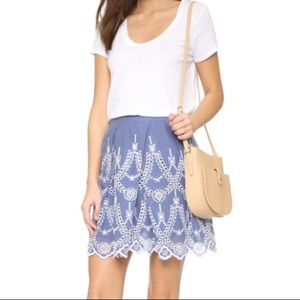 Kendall Kylie Eyelet Embroidered Mini Skirt XS